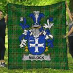 1stScotland Premium Quilt - Mulock Or Mullock Irish Family Crest Quilt - Irish National Tartan A7