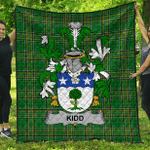1stScotland Premium Quilt - Kidd Irish Family Crest Quilt - Irish National Tartan A7