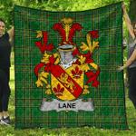 1stScotland Premium Quilt - Lane Irish Family Crest Quilt - Irish National Tartan A7