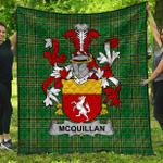 1stScotland Premium Quilt - Quillan Or Mcquillan Irish Family Crest Quilt - Irish National Tartan A7