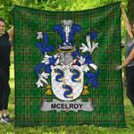 1stScotland Premium Quilt - Mcelroy Or Gilroy Irish Family Crest Quilt - Irish National Tartan A7
