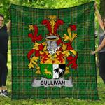 1stScotland Premium Quilt - Sullivan Or O'Sullivan (Beare) Irish Family Crest Quilt - Irish National Tartan A7