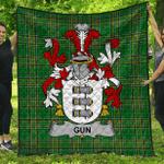 1stScotland Premium Quilt - Gun Irish Family Crest Quilt - Irish National Tartan A7