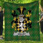 1stScotland Premium Quilt - Jolley Or Jolly Irish Family Crest Quilt - Irish National Tartan A7