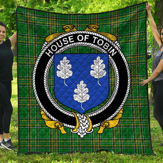 1stScotland Premium Quilt - House Of Tobin Irish Family Crest Quilt - Irish National Tartan A7