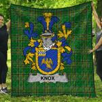 1stScotland Premium Quilt - Knox Irish Family Crest Quilt - Irish National Tartan A7