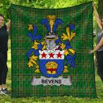 1stScotland Premium Quilt - Bevens Irish Family Crest Quilt - Irish National Tartan A7