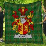 1stScotland Premium Quilt - Clary Or O'Clary. Irish Family Crest Quilt - Irish National Tartan A7