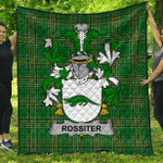 1stScotland Premium Quilt - Rossiter Irish Family Crest Quilt - Irish National Tartan A7