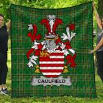1stScotland Premium Quilt - Caulfield Or Gaffney Irish Family Crest Quilt - Irish National Tartan A7