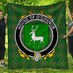 1stScotland Premium Quilt - House Of O'Connor (Corcomroe) Irish Family Crest Quilt - Irish National Tartan A7