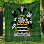 1stScotland Premium Quilt - Ardagh Irish Family Crest Quilt - Irish National Tartan A7
