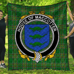 1stScotland Premium Quilt - House Of Maccotter Irish Family Crest Quilt - Irish National Tartan A7