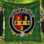 1stScotland Premium Quilt - House Of O'Broder Irish Family Crest Quilt - Irish National Tartan A7