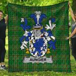 1stScotland Premium Quilt - Aungier Irish Family Crest Quilt - Irish National Tartan A7