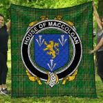 1stScotland Premium Quilt - House Of Maccolgan Irish Family Crest Quilt - Irish National Tartan A7