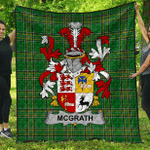 1stScotland Premium Quilt - Mcgrath Or Mcgraw Irish Family Crest Quilt - Irish National Tartan A7