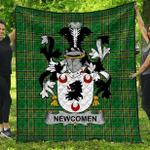1stScotland Premium Quilt - Newcomen Or Newcombe Irish Family Crest Quilt - Irish National Tartan A7