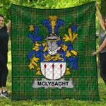 1stScotland Premium Quilt - Mclysacht Or Lysacht Irish Family Crest Quilt - Irish National Tartan A7
