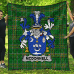 1stScotland Premium Quilt - Mcdonnell Irish Family Crest Quilt - Irish National Tartan A7