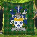 1stScotland Premium Quilt - Stone Irish Family Crest Quilt - Irish National Tartan A7