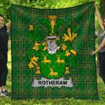 1stScotland Premium Quilt - Rotheram Irish Family Crest Quilt - Irish National Tartan A7