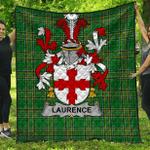 1stScotland Premium Quilt - Laurence Irish Family Crest Quilt - Irish National Tartan A7