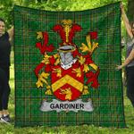 1stScotland Premium Quilt - Gardiner Irish Family Crest Quilt - Irish National Tartan A7