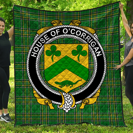 1stScotland Premium Quilt - House Of O'Corrigan Irish Family Crest Quilt - Irish National Tartan A7