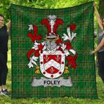 1stScotland Premium Quilt - Foley Irish Family Crest Quilt - Irish National Tartan A7