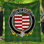 1stScotland Premium Quilt - House Of Barrett Irish Family Crest Quilt - Irish National Tartan A7