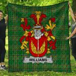 1stScotland Premium Quilt - Williams Irish Family Crest Quilt - Irish National Tartan A7