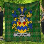 1stScotland Premium Quilt - Mecham Irish Family Crest Quilt - Irish National Tartan A7
