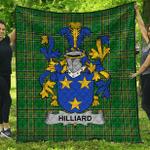 1stScotland Premium Quilt - Hilliard Irish Family Crest Quilt - Irish National Tartan A7