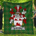 1stScotland Premium Quilt - Slattery Or O'Slattery Irish Family Crest Quilt - Irish National Tartan A7
