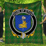 1stScotland Premium Quilt - House Of O'Fahy Irish Family Crest Quilt - Irish National Tartan A7