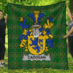 1stScotland Premium Quilt - Cadogan Irish Family Crest Quilt - Irish National Tartan A7