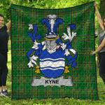 1stScotland Premium Quilt - Kyne Or O'Kyne Irish Family Crest Quilt - Irish National Tartan A7