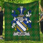 1stScotland Premium Quilt - Aland Irish Family Crest Quilt - Irish National Tartan A7