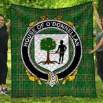 1stScotland Premium Quilt - House Of O'Donnellan Irish Family Crest Quilt - Irish National Tartan A7