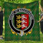 1stScotland Premium Quilt - House Of Macconsidine Irish Family Crest Quilt - Irish National Tartan A7