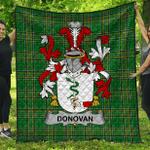 1stScotland Premium Quilt - Donovan Or O'Donovan Irish Family Crest Quilt - Irish National Tartan A7