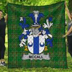 1stScotland Premium Quilt - Mccall Irish Family Crest Quilt - Irish National Tartan A7