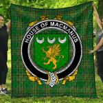 1stScotland Premium Quilt - House Of Macmanus Irish Family Crest Quilt - Irish National Tartan A7