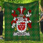 1stScotland Premium Quilt - Darley Irish Family Crest Quilt - Irish National Tartan A7