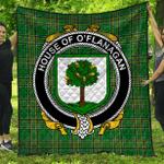1stScotland Premium Quilt - House Of O'Flanagan Irish Family Crest Quilt - Irish National Tartan A7