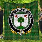 1stScotland Premium Quilt - House Of Macgeraghty Irish Family Crest Quilt - Irish National Tartan A7