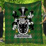 1stScotland Premium Quilt - Murtaugh Irish Family Crest Quilt - Irish National Tartan A7