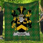 1stScotland Premium Quilt - Curnin Or O'Curneen Irish Family Crest Quilt - Irish National Tartan A7