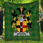 1stScotland Premium Quilt - Brooke Irish Family Crest Quilt - Irish National Tartan A7